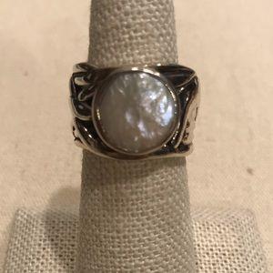 Silpada Coin Pearl Ring